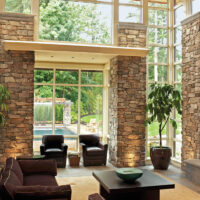 Eldorado Stone fieldledge meseta used on large pillars in living area