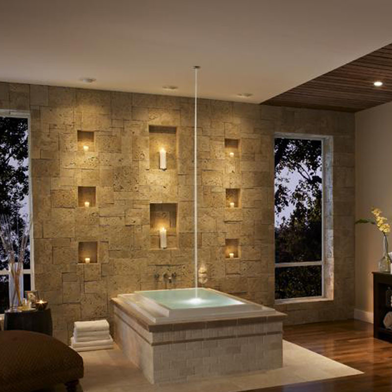 Eldorado coastal reef sanibel stone used in bathroom