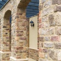 Stonecraft heritage chardonnay facade used on columns and arcs