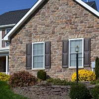 Stonecraft heritage warm springs facade on house