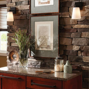 Stonecraft ledgestone tennessee on interior wall