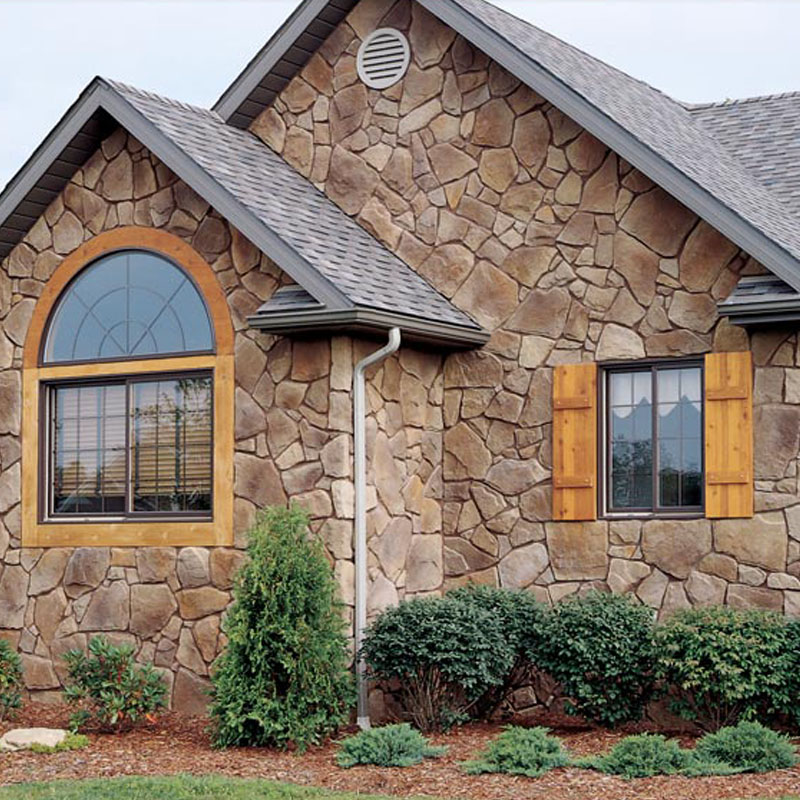 Stonecraft monarch mountain stone as facade on home