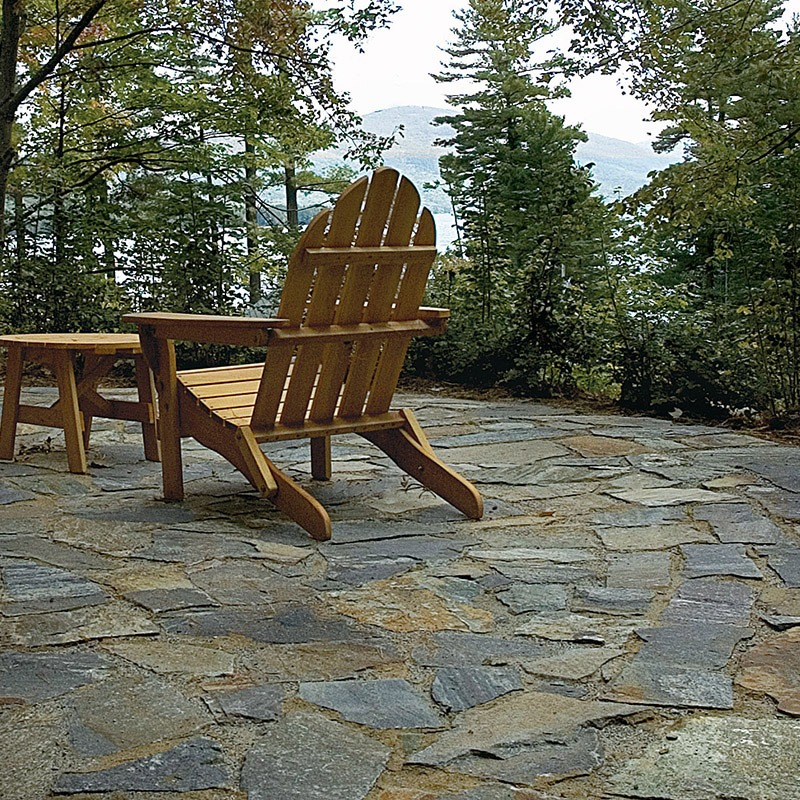 Champlain american granite flagging on outdoor patio