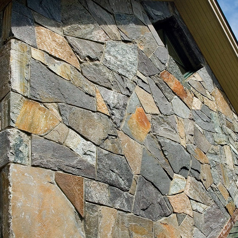 Champlain american granite mosaic facade on house