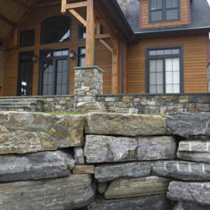 Champlain american granite and corinthian blend wall