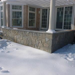 PSW natural thin veneer antique granite mosaic stone