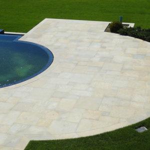 Pool patio built with aurelia granite