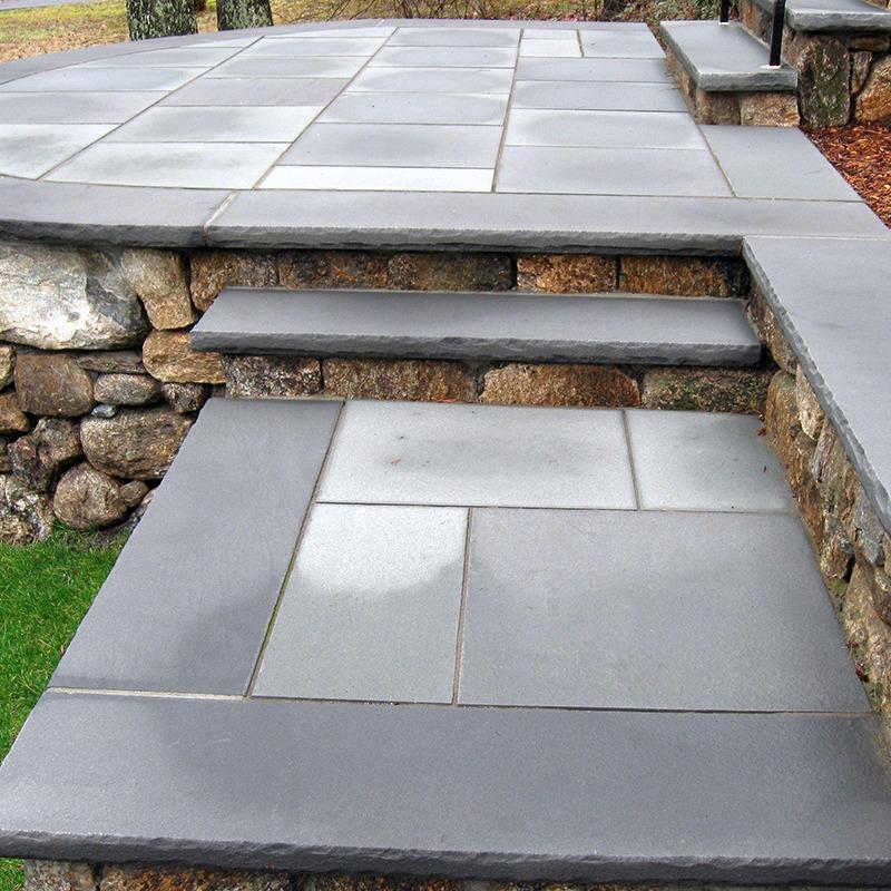 Front house entrance custom bluestone steps