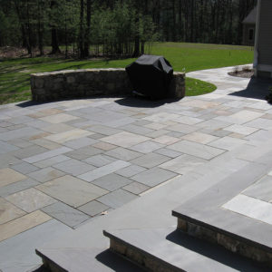 Steps and Patio built with Bluestone