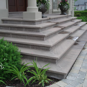 Brown wave front steps