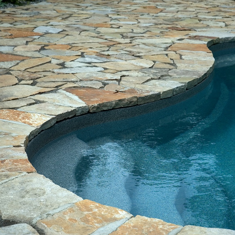 Pool patio built with champlain south bay, thin