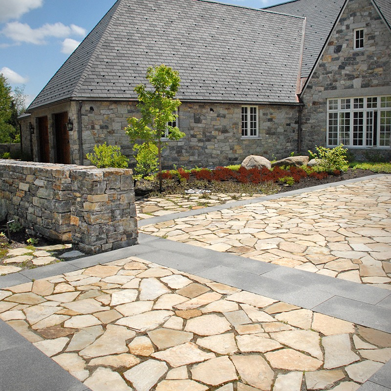Champlain south bay stone on a driveway/patio