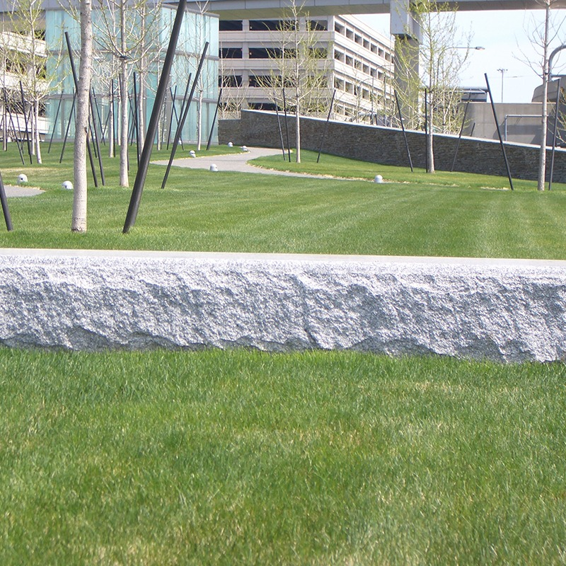 Outdoor block bench made with stanstead granite