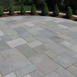 Patio built with Bluestone, natural cleft, mixed color pattern