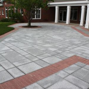 Salt and pepper granite patio