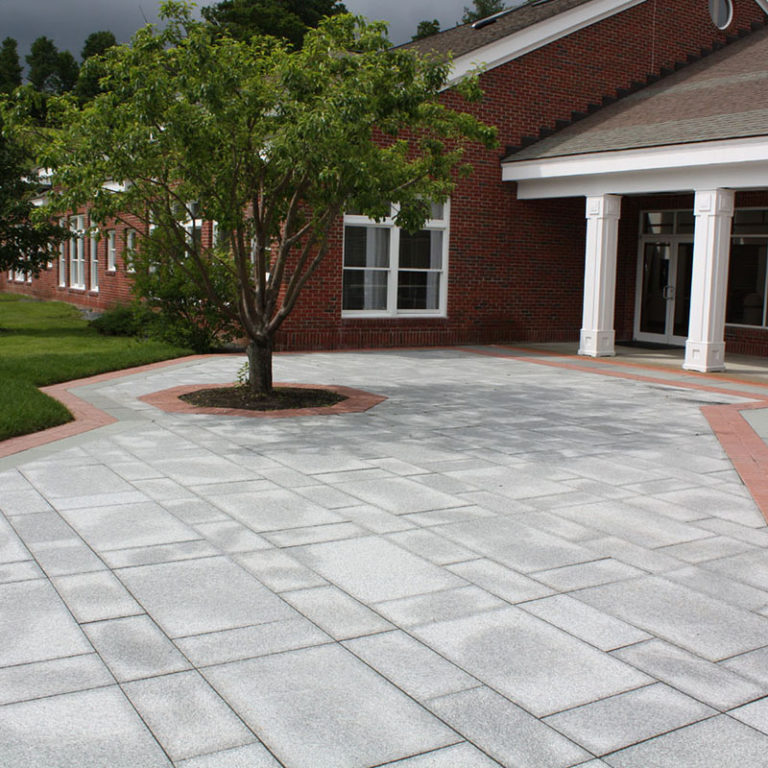 Salt and pepper granite used on commercial patio