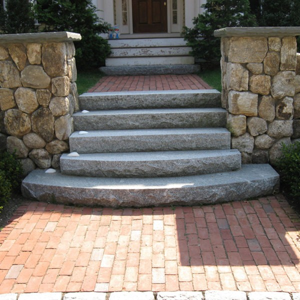 Custom stanstead steps on front entrance