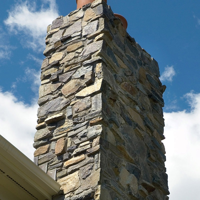 Champlain - american granite stone used on chimney