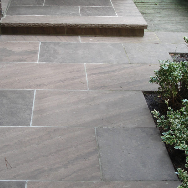 outdoor patio made of Brown wave stone