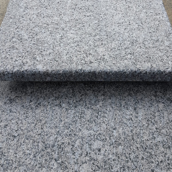 close up profile of Caledonia Granite steps