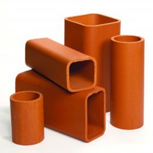 Superior Clay flue liners on a white background