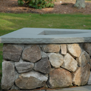 Portland stone ware natural thin veneer stone used on outdoor firepit