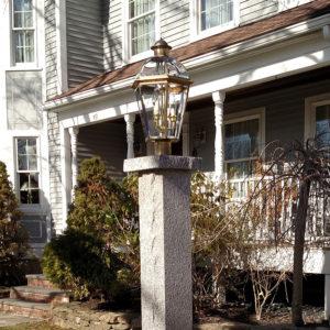 Stanstead granite lamp post