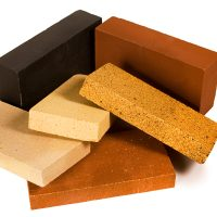 different sizes and colors of firebrick