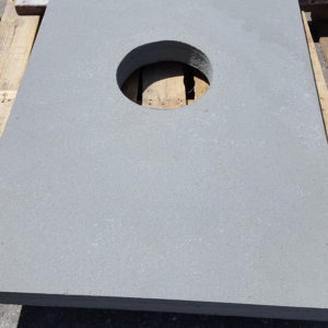 Special cut out in Thermal Bluestone with core drill on a pallet