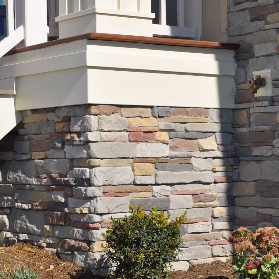 M-Rock msi p-series ledgestone, aspen stone on house