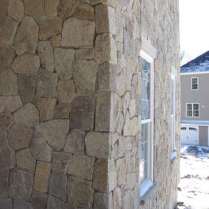 portland stone ware corner of house facade