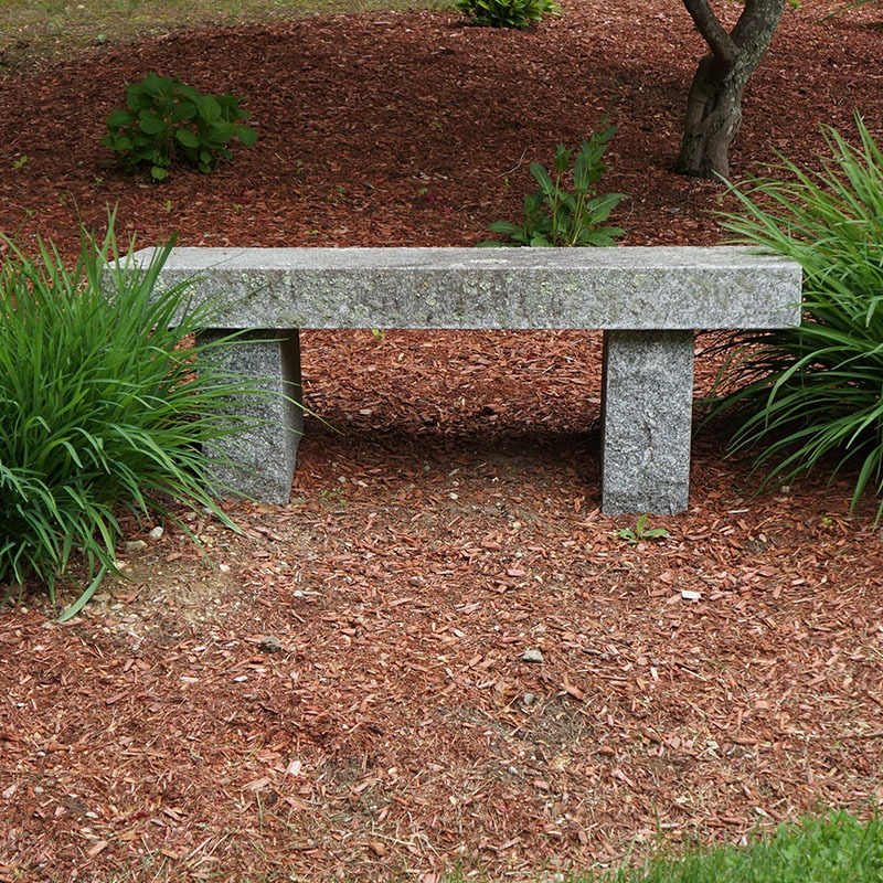 Outdoor bench made out of stanstead granite