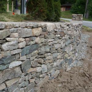 freestanding portland stone ware wallstone wall