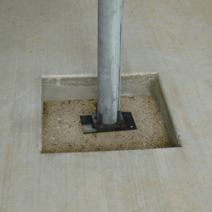 lally column base plates
