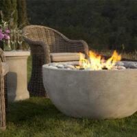 Eldorado Stone Fire bowl in an outdoor living space
