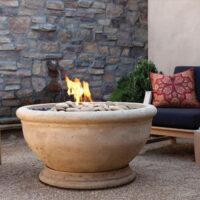 Eldorado stone oak fire bowl outdoor fire bowl