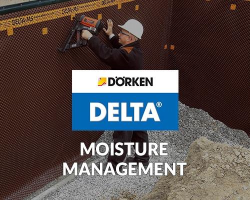 dorken delta, moisture management products