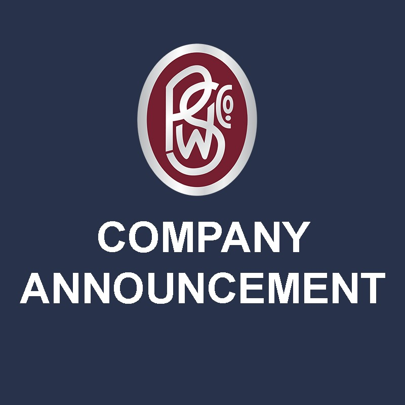 graphic of PSW company announcement