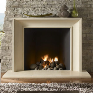 fireplace made with a kindred fireplace surround - the soho boutique