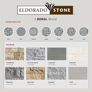 eldorado stone logo and screenshot of stone profiles