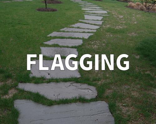 outdoor walking path, flagstone