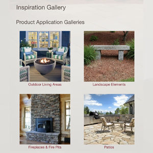 screenshot of PSW's inspiration gallery webpage