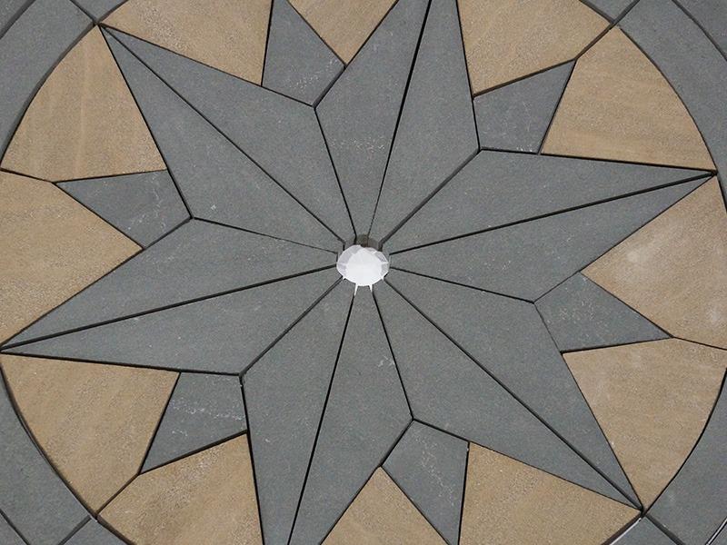custom stone fabrication - bluestone compass