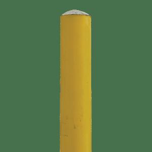 "6' long x 4.5"" OD Sch40 Bollard Yellow Powder Coated Round Top"