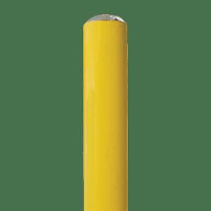 "7' long x 6"" OD 16 ga Bollard Yellow Powder Coated Round Top"