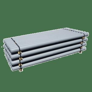 PSW gray palleted bollards